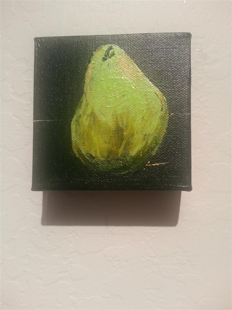 """""""Pear"""" original fine art by Jo Allebach"""