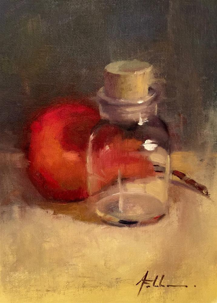 """A Little Something, 6x8"" original fine art by Ann Feldman"