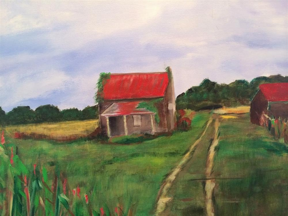 """The Back Roads"" original fine art by Kimberly Balentine"