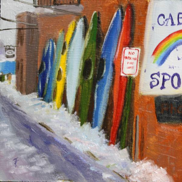"""Winter Stowage"" original fine art by Jane Frederick"