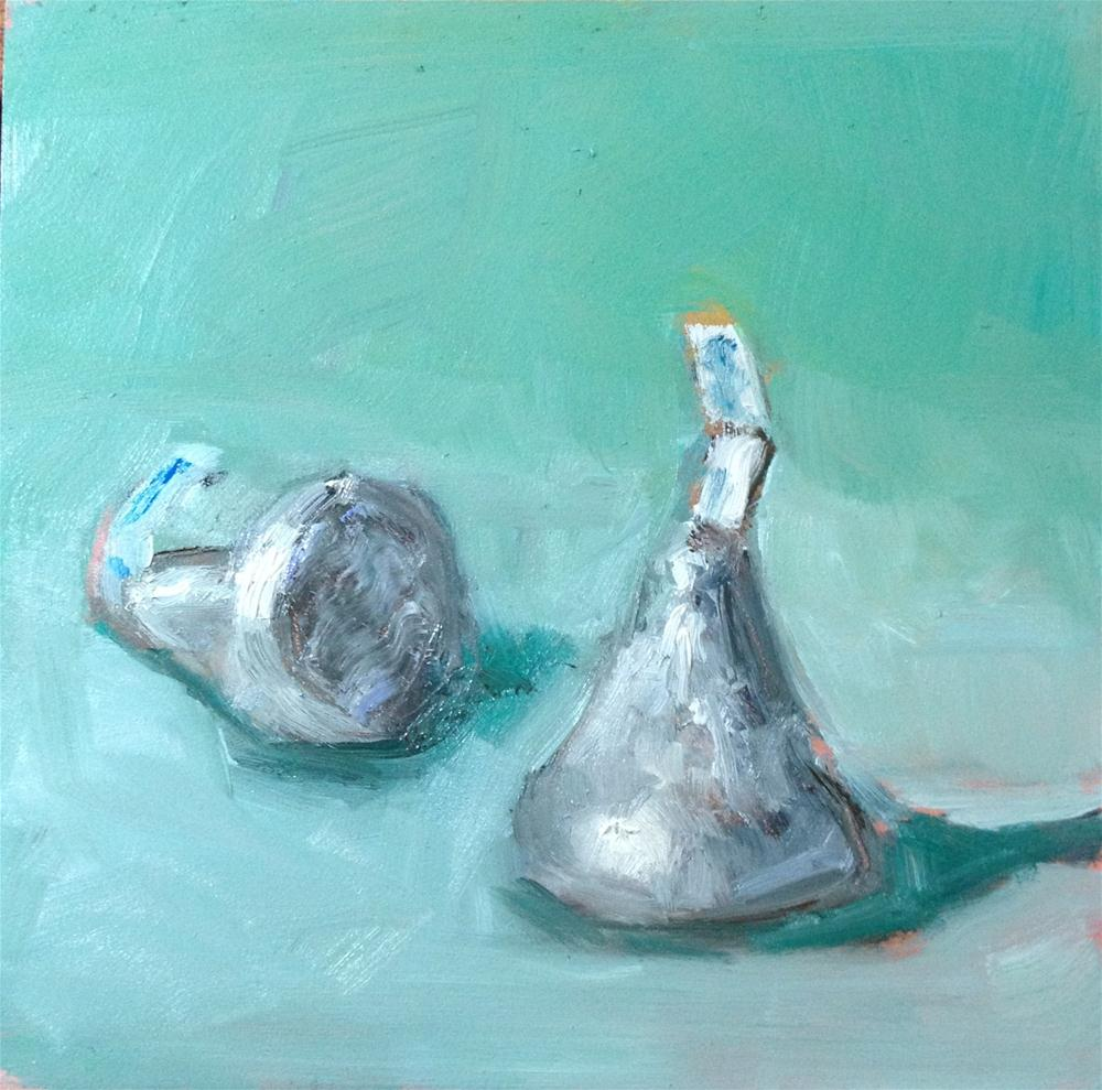 """Two kisses"" original fine art by Carol Josefiak"