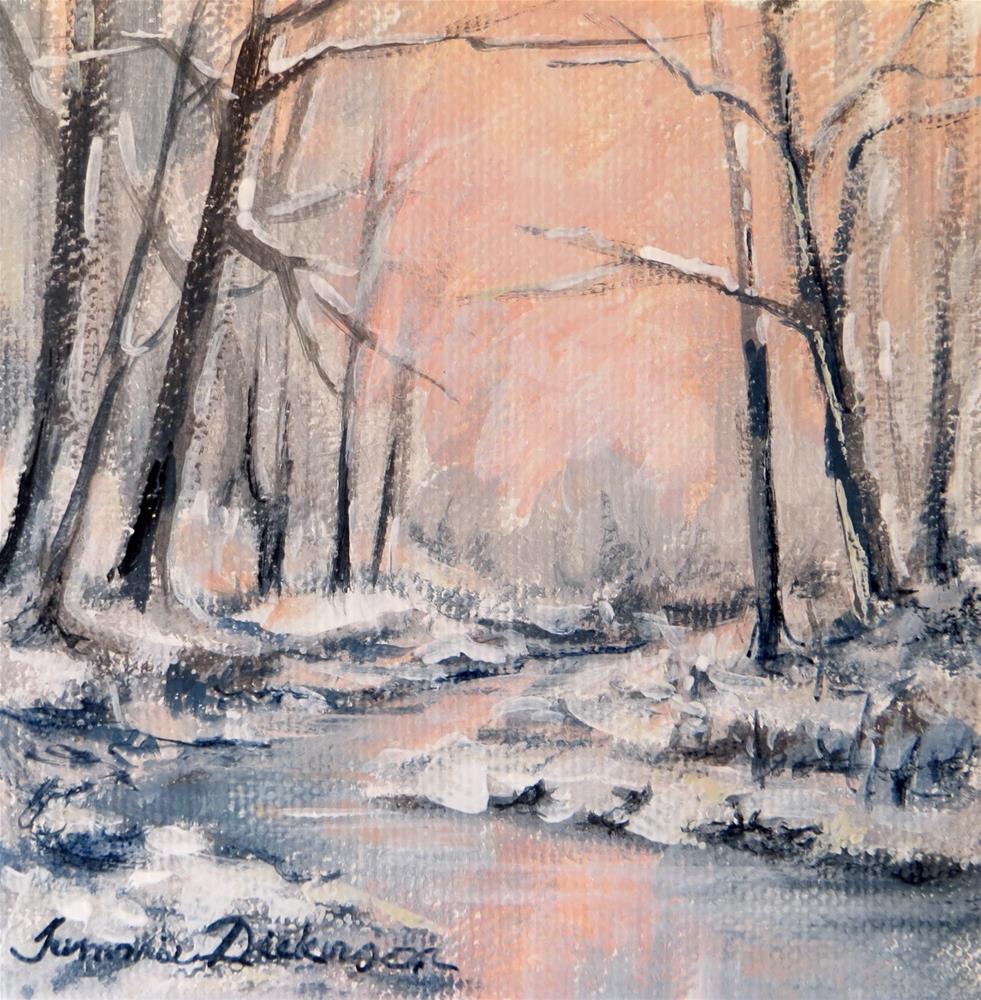 """Winter Pinks"" original fine art by Tammie Dickerson"