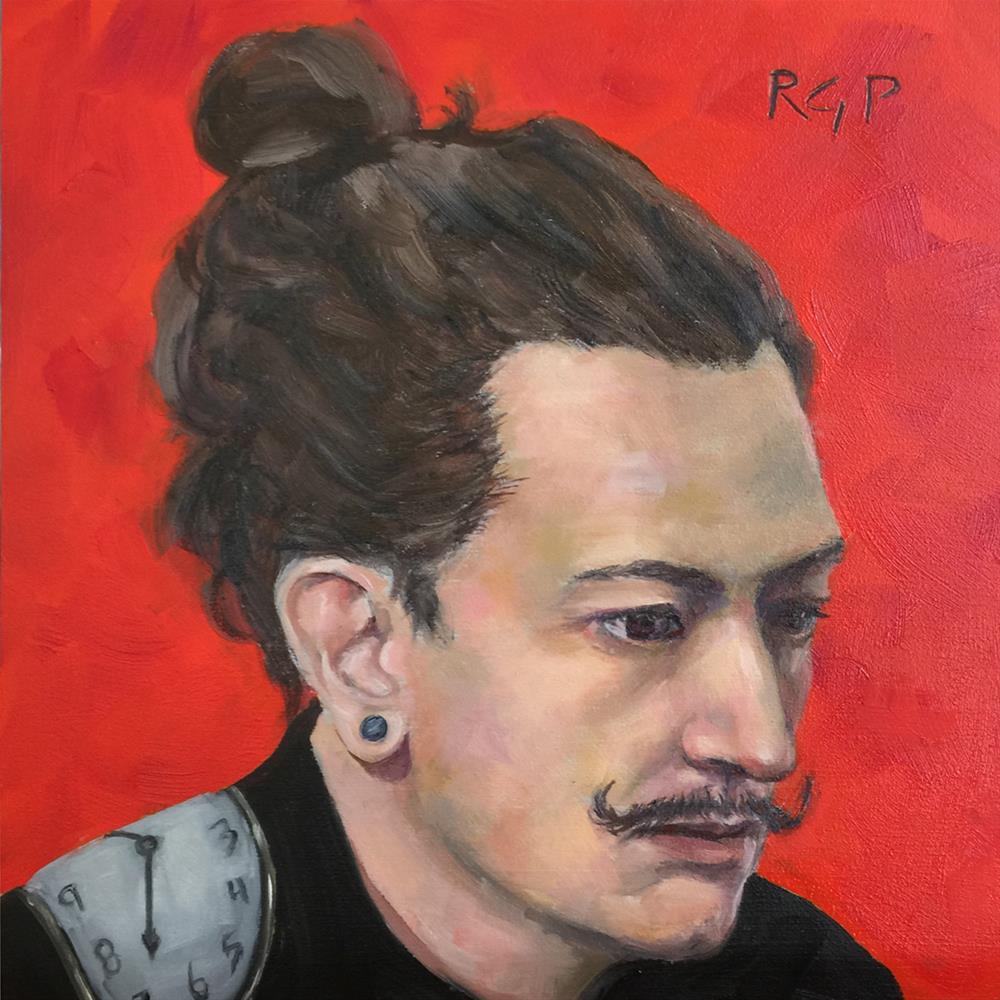 """""""Hipster Dali"""" original fine art by Rhea  Groepper Pettit"""