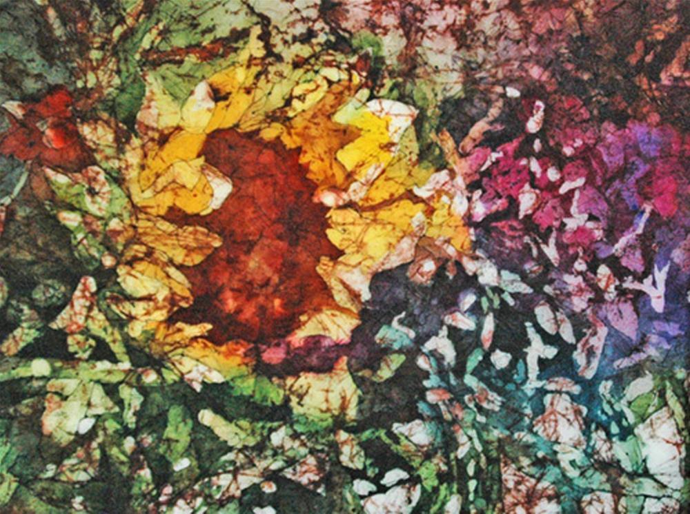 """Sunflower Surprise"" original fine art by Diane Fujimoto"