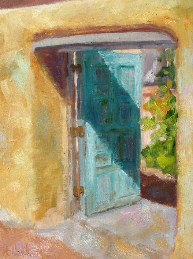 """Let's Peek Inside!"" original fine art by Pam Holnback"