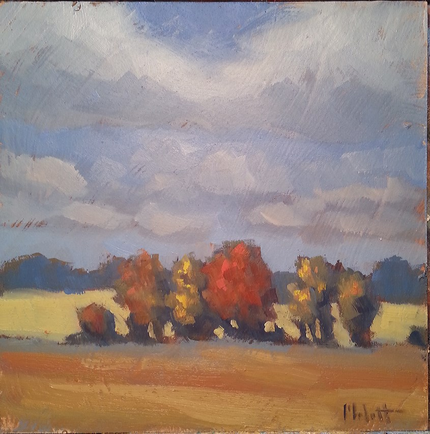 """Fall Foliage Autumn Landscape Original Oil Painting"" original fine art by Heidi Malott"