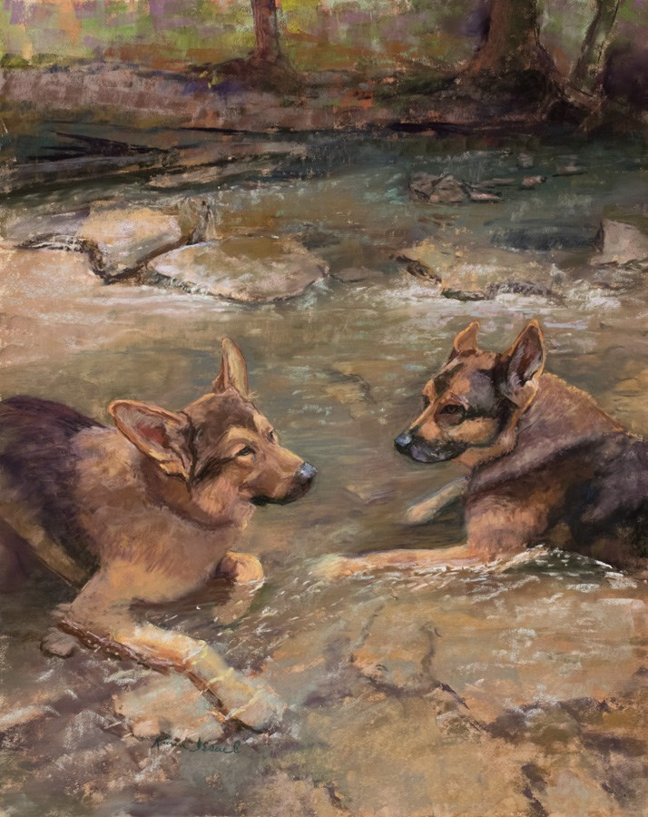 """The Stream Kings"" original fine art by karen israel"