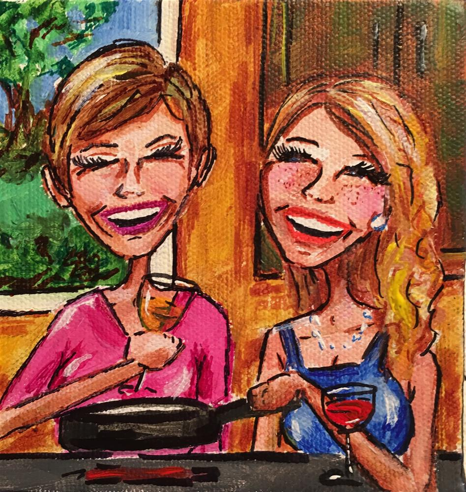 """Boobs and Booze"" original fine art by Jennifer Koach"