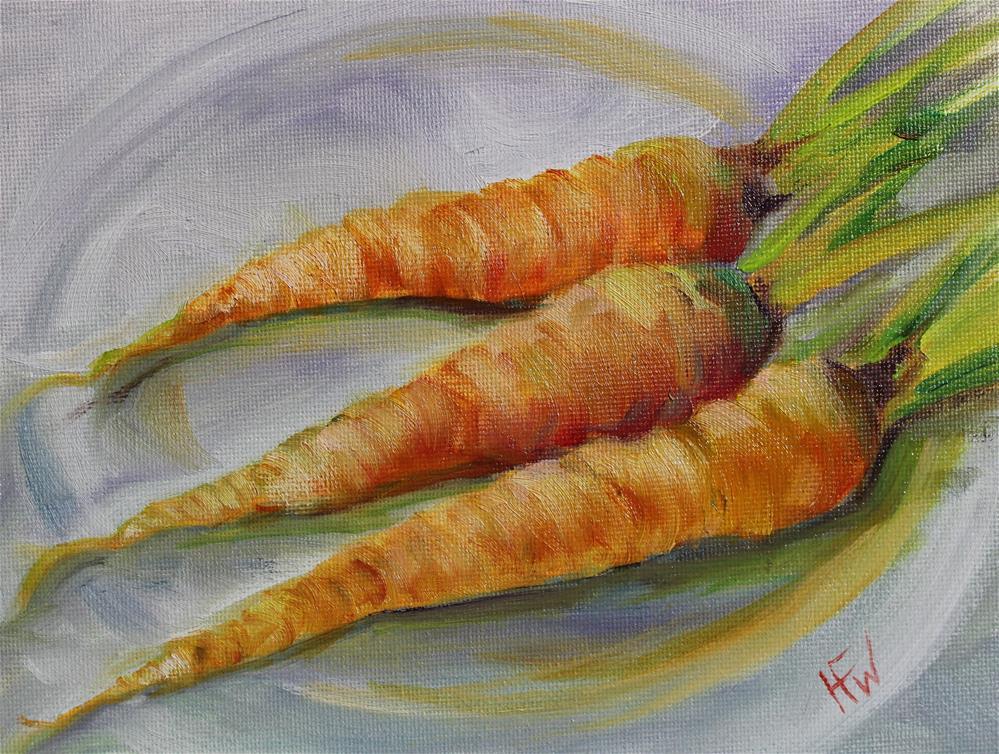 """Carrot Trio"" original fine art by H.F. Wallen"