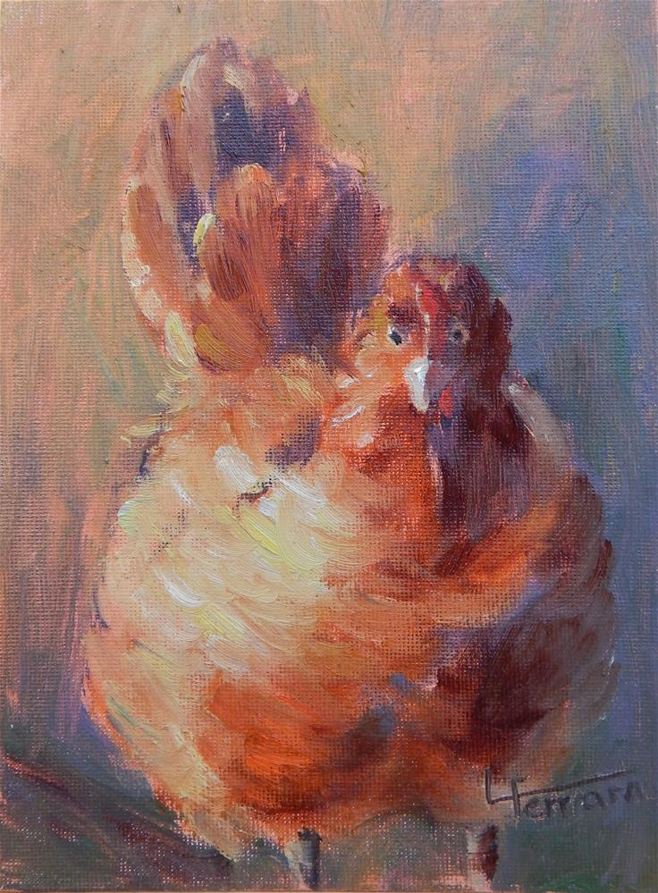 """Plucky"" original fine art by Lina Ferrara"