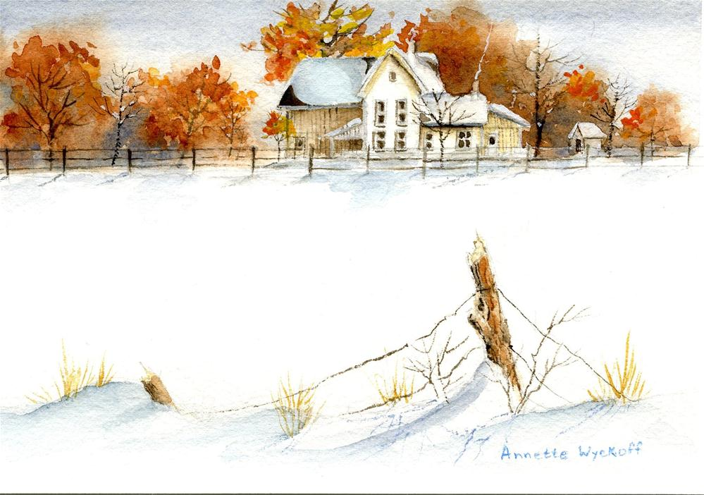 """Early Snow"" original fine art by Annette Wyckoff"