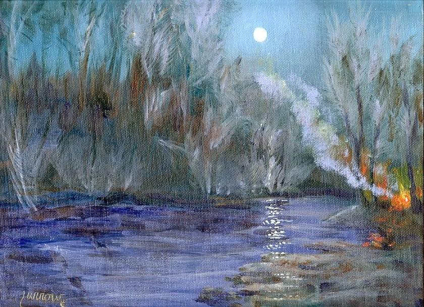 """Campfire No. 2"" original fine art by Sue Furrow"