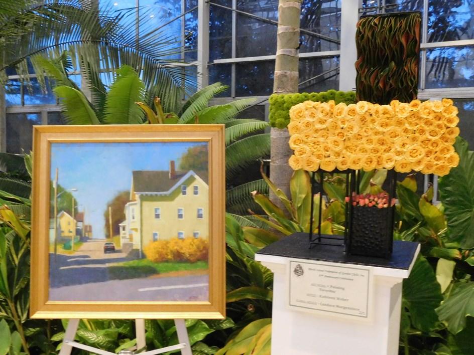 """Garden Clubs Art in Bloom"" original fine art by Kathy Weber"