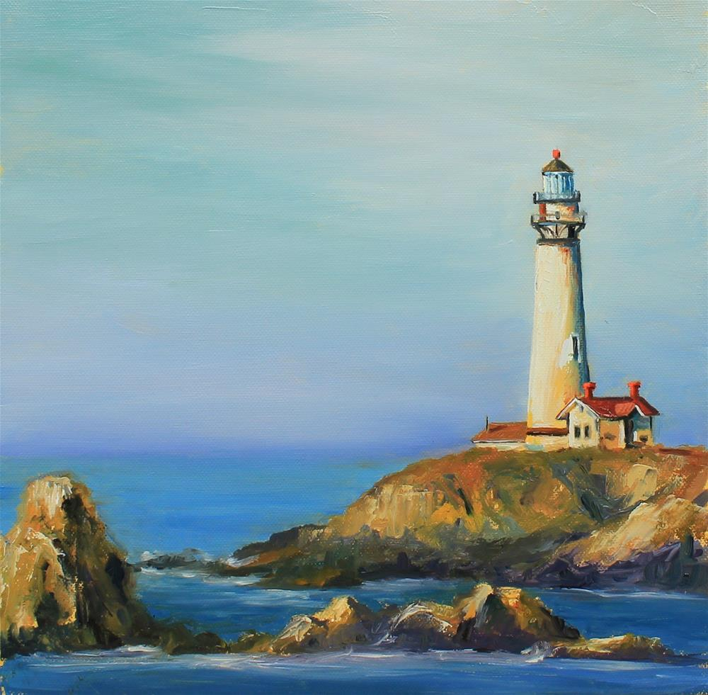 """Lighthouse"" original fine art by Marco Vazquez"