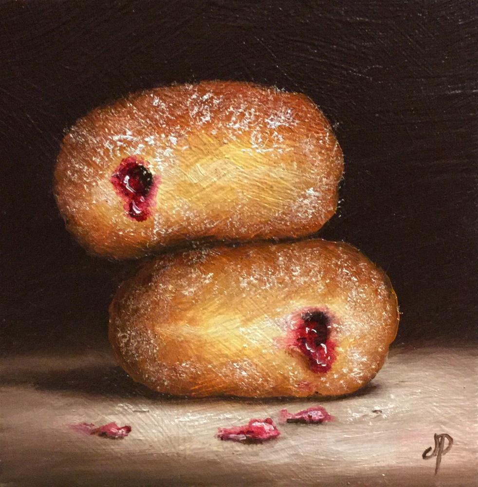 """Jam Doughnuts #17"" original fine art by Jane Palmer"