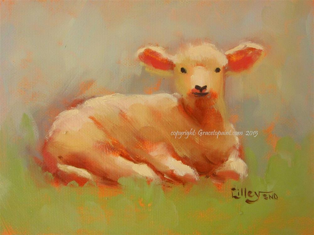 """Baby Lamb"" original fine art by Maresa Lilley"