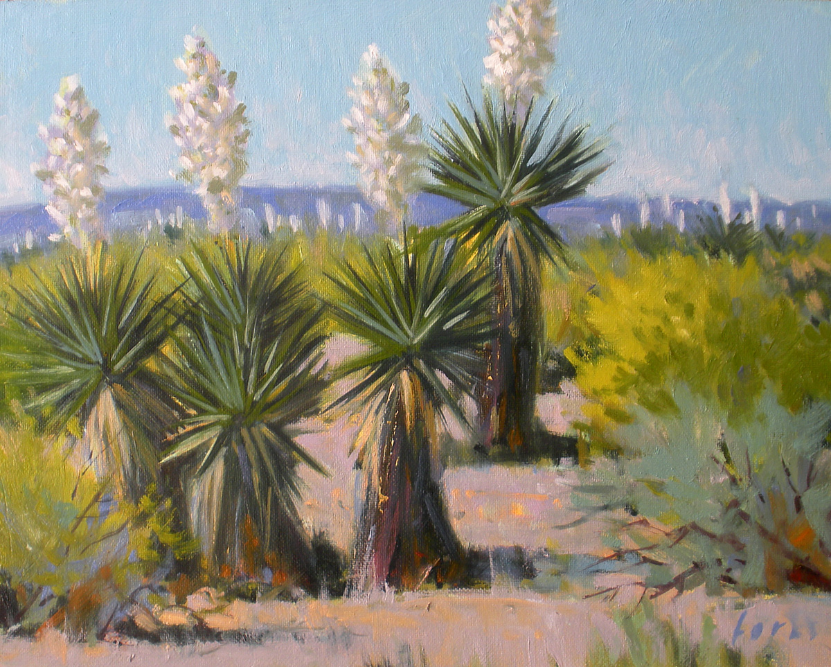 """Land of the Yucca"" original fine art by David Forks"