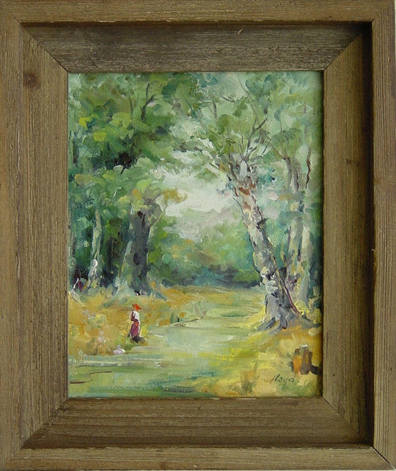 """Woodland Path"" original fine art by Diane Lloyd"