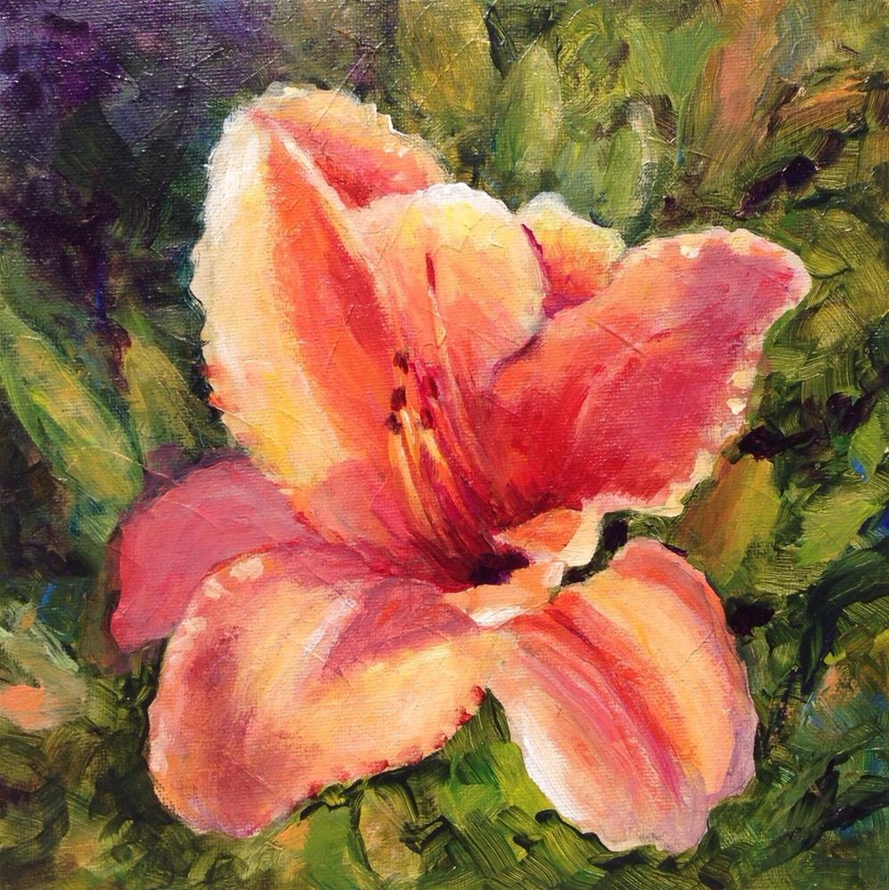 """Left Handed. Lily"" original fine art by Nancy F. Morgan"