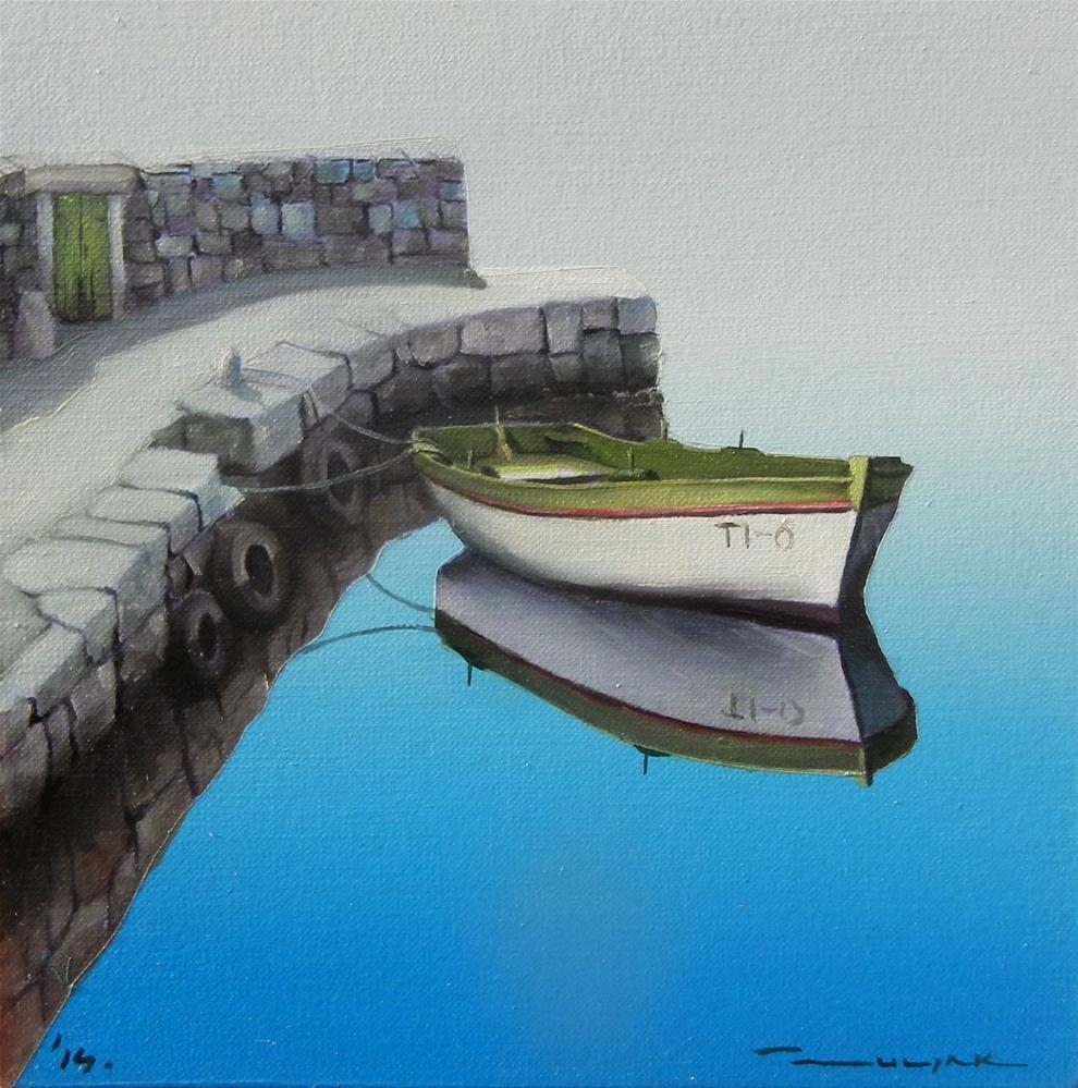 """Sky blue"" original fine art by Dragan Culjak"