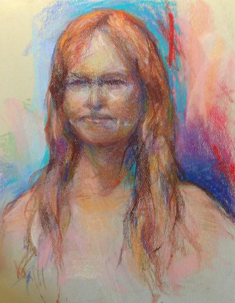 """REDHEAD - 12 x 9 pastel sketch by Susan Roden"" original fine art by Susan Roden"