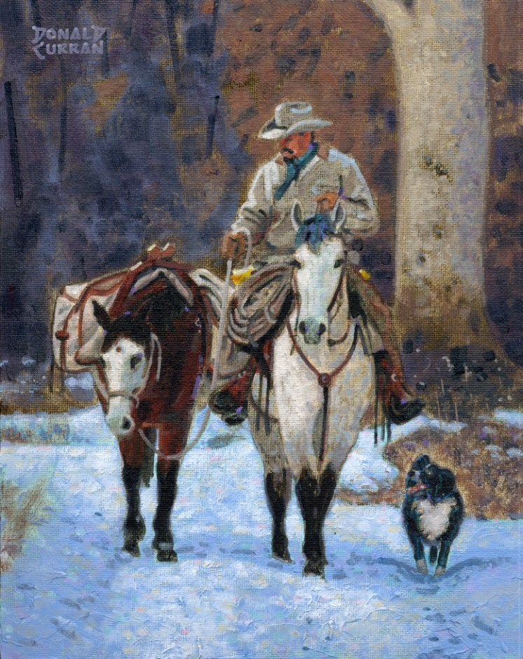 """Winter Ride"" original fine art by Donald Curran"