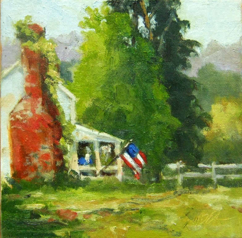 """Red. White, and Blue, Virginia"" original fine art by Connie Snipes"