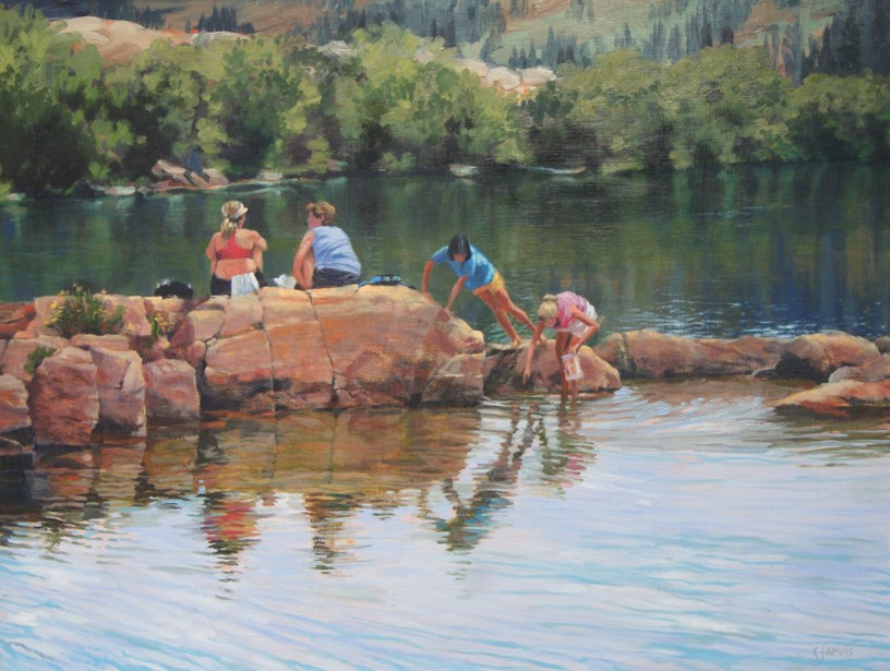 """Secret Lake"" original fine art by Susan N Jarvis"
