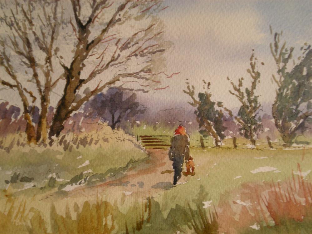 """Christmas Eve walk"" original fine art by Graham Findlay"