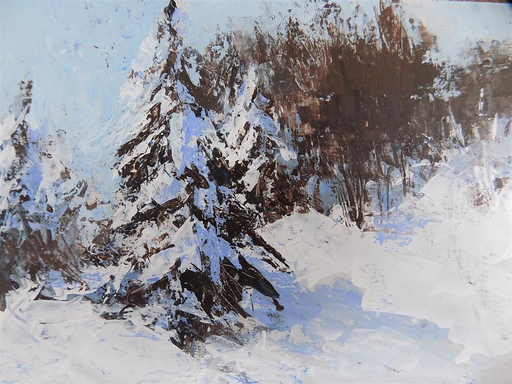 """Snow Series #11"" original fine art by Joan Reive"