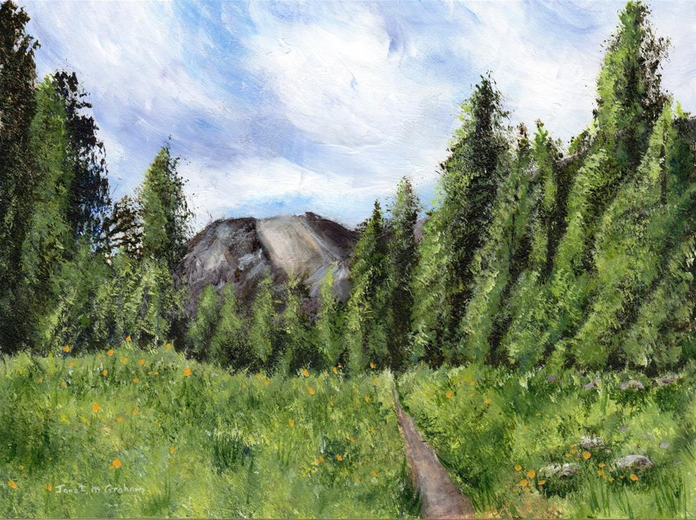 """Path to the Mountain"" original fine art by Janet Graham"