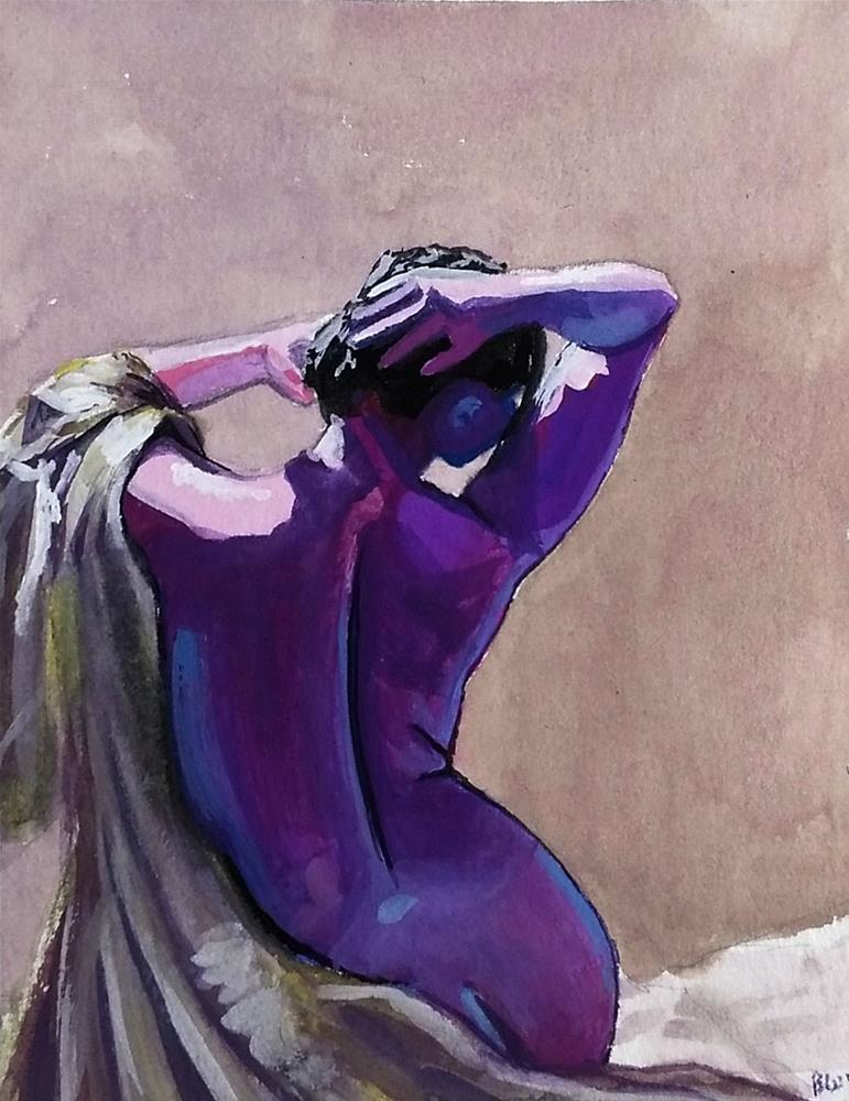 """Study in Purple"" original fine art by Brandy Woodford"