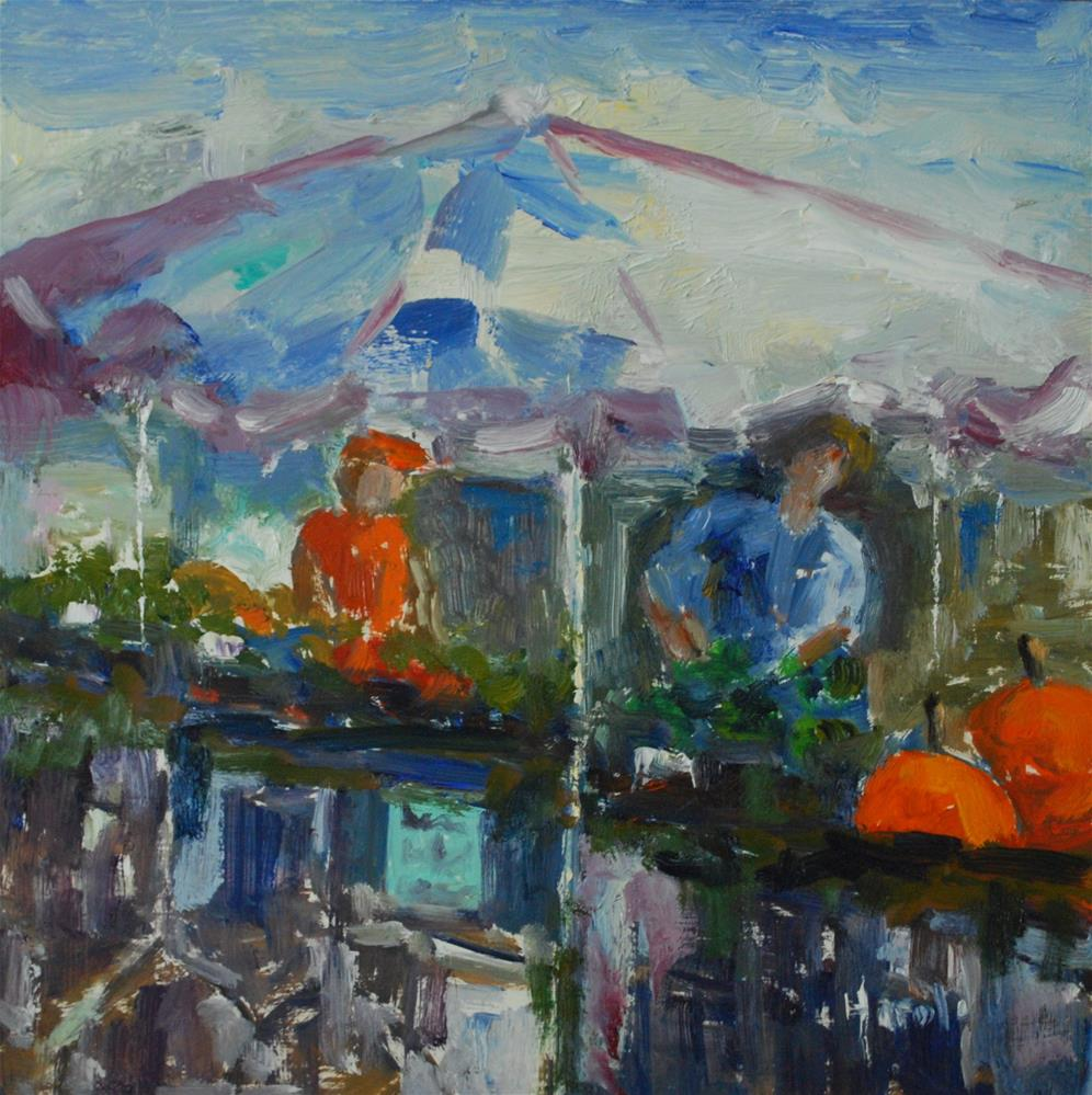 """Farmer's Market, Charleston"" original fine art by Deborah Harold"
