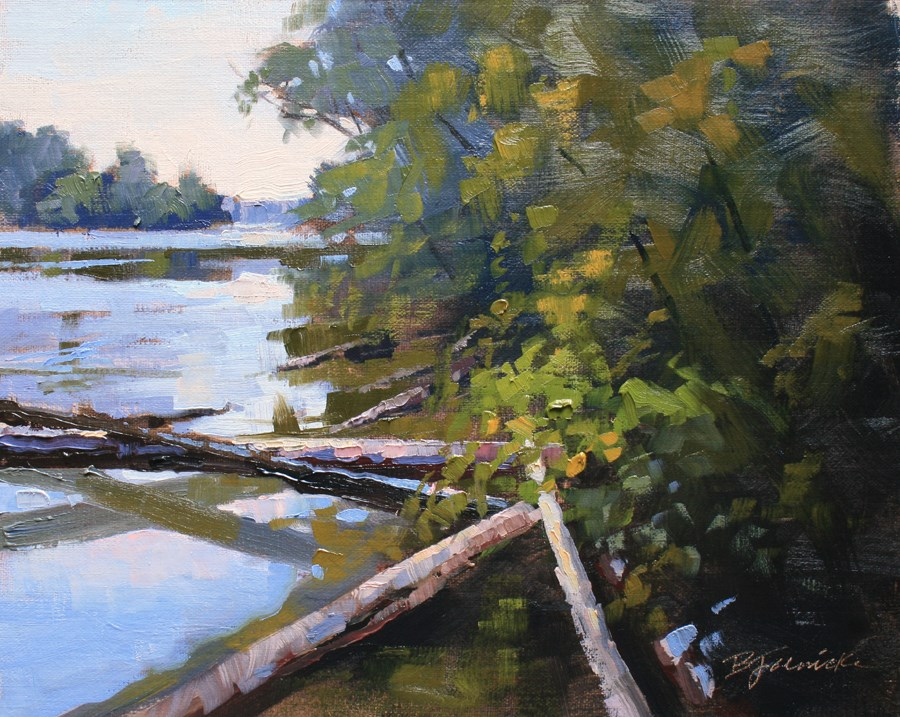 """Down the 'Hooch'"" original fine art by Barbara Jaenicke"