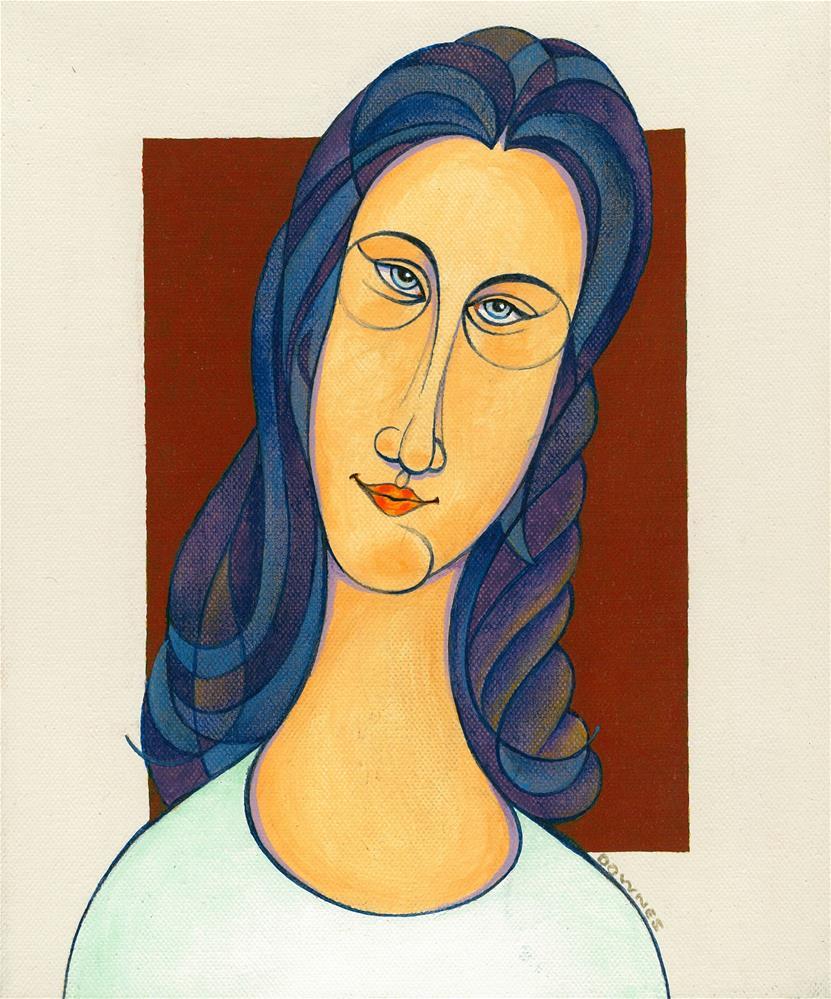 """145 MOD GIRL 4"" original fine art by Trevor Downes"