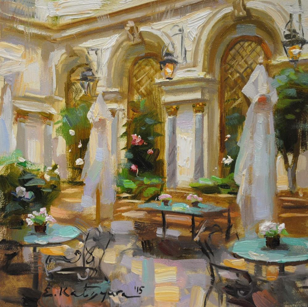 """Turquoise Tables"" original fine art by Elena Katsyura"