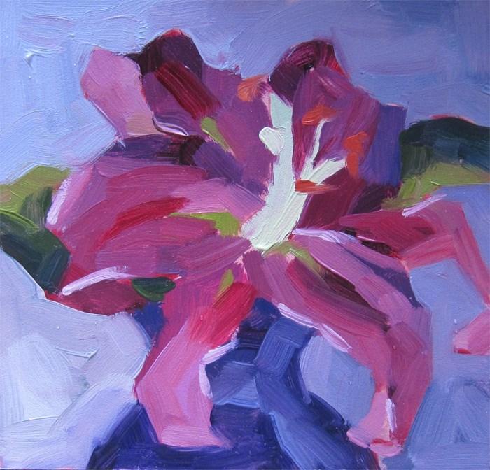 """Stargazer Lily"" original fine art by Katia Kyte"