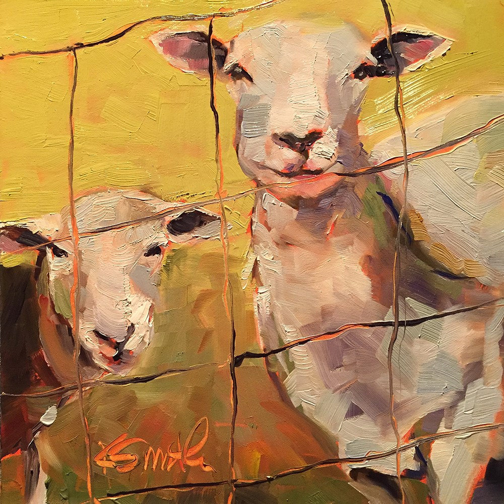 """the grass is always greener"" original fine art by Kim Smith"
