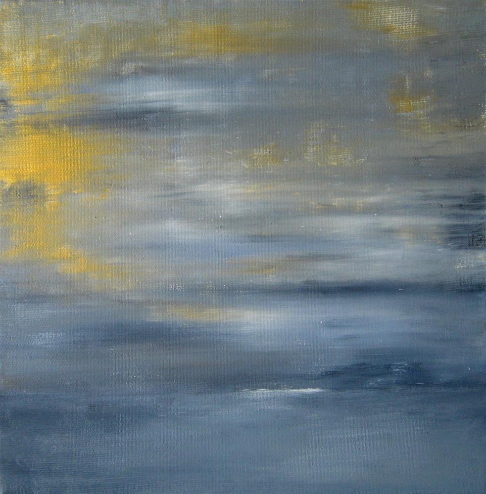 """""""Golden Blue"""" original fine art by Alina Frent"""
