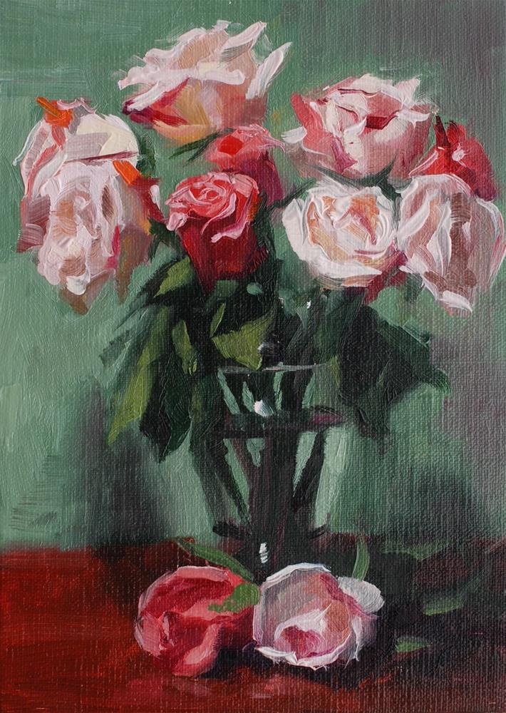 """No. 692 Perrin Roses #1"" original fine art by Susan McManamen"