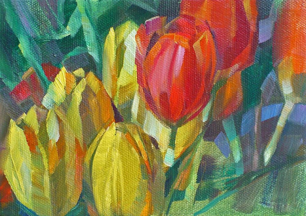 """""""Spring"""" original fine art by Nicoletta Baumeister"""