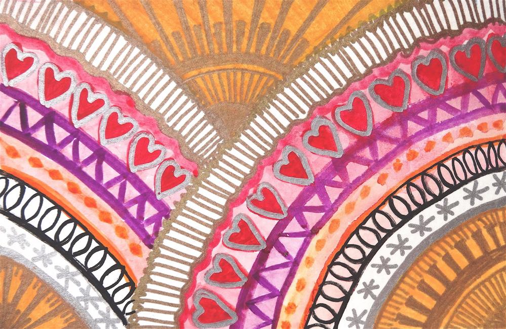 """6028 - The Rainbow - Happy Heart V"" original fine art by Sea Dean"