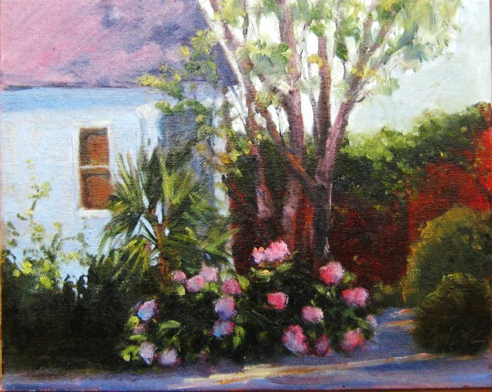 Wing Haven Garden, Charlotte, NC original fine art by Connie Snipes