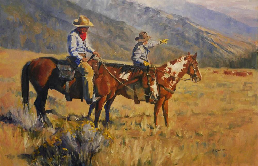 """Wasatch Wranglers"" original fine art by Rick Kennington"