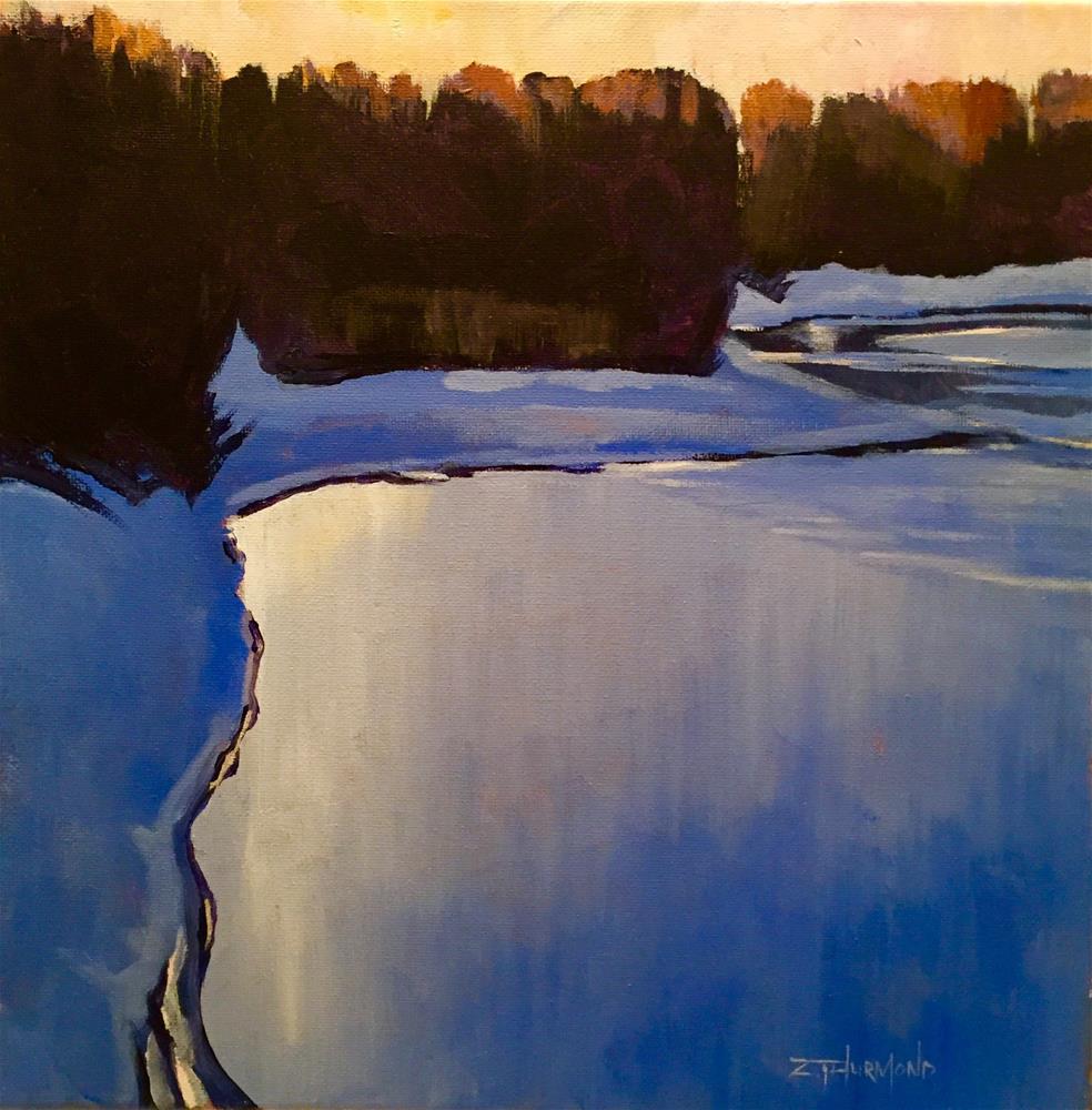 """Wood River Morning"" original fine art by Zack Thurmond"