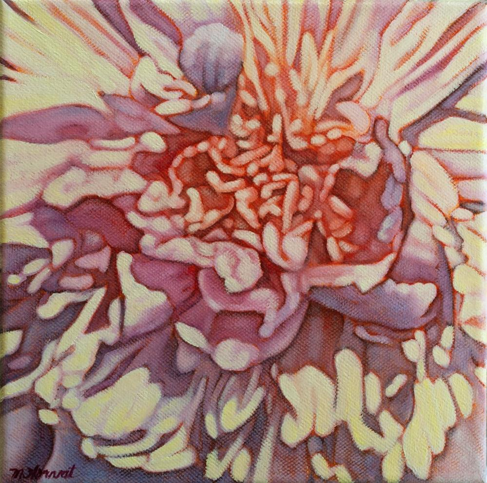 """Pink Peony Heart"" original fine art by Margaret Horvat"