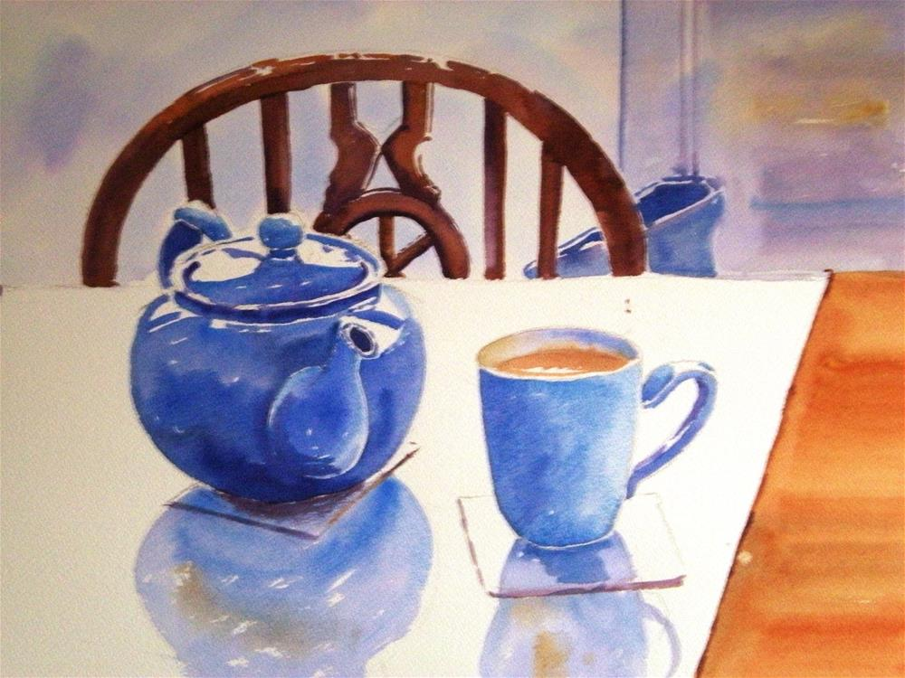 """A Welcome cuppa"" original fine art by Graham Findlay"