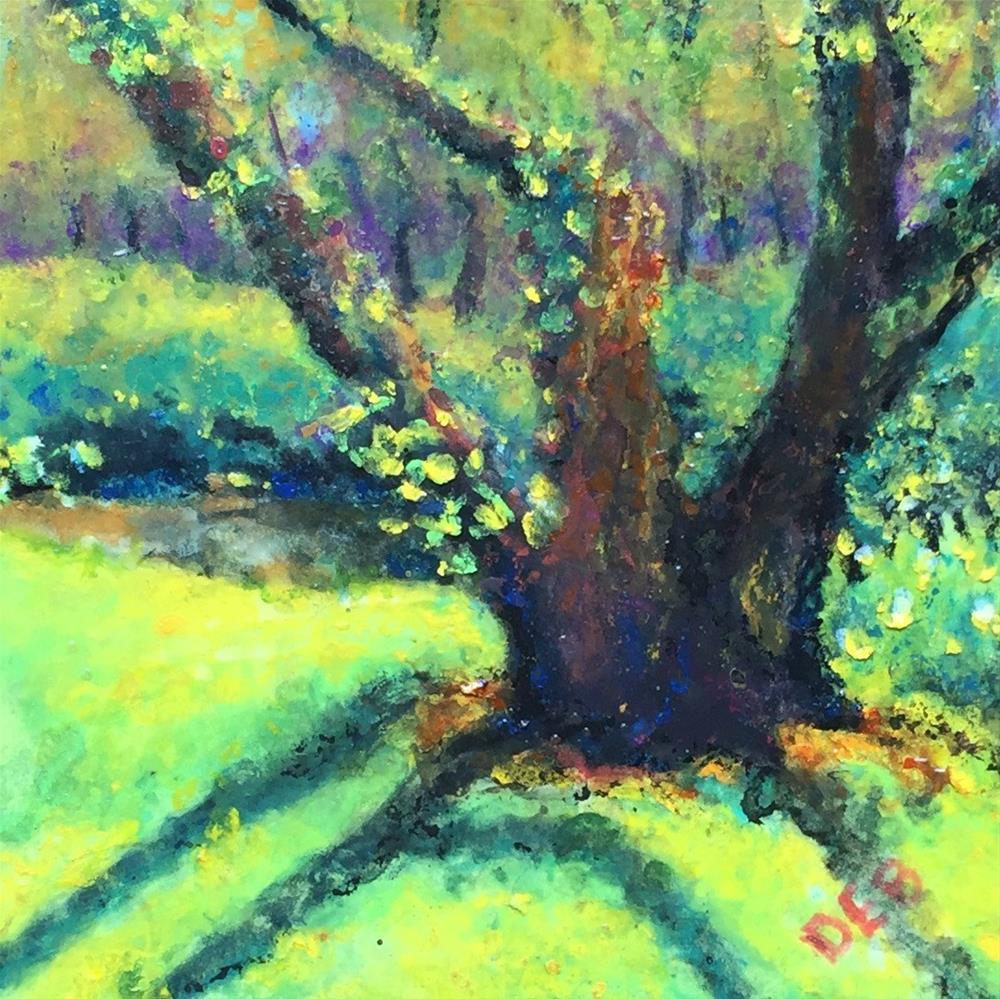 """Tree Challenge"" original fine art by Debbie Yacenda"