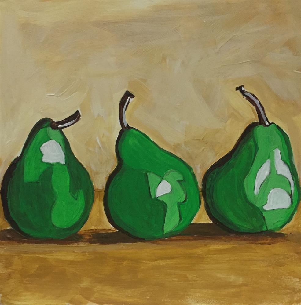 """""""Pears"""" original fine art by Helen Kuhn"""