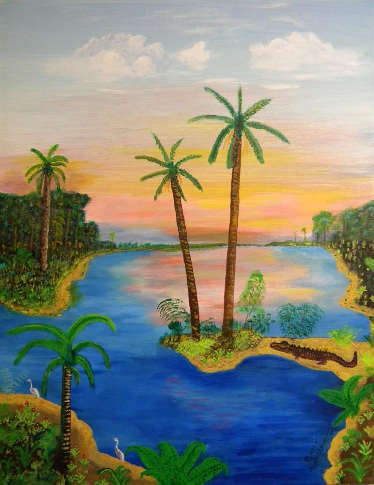 """My Florida Art"" original fine art by Robert Provencial"